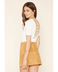 Forever 21 | White Contemporary Crisscross Top | Lyst