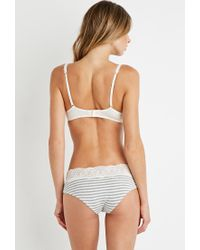 Forever 21 - Natural Twist-front Microfiber Push-up Bra - Lyst