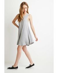 Forever 21 | Gray Jersey Trapeze Dress | Lyst