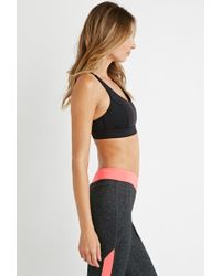 Forever 21 - Black Medium Impact - Crossback Sports Bra - Lyst