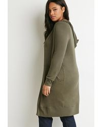 Forever 21 - Green Plus Size Marled Open-front Cardigan - Lyst