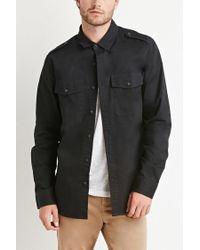 Forever 21 | Black Utility Pocket Shirt for Men | Lyst