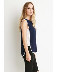 Forever 21 | Blue Colorblocked Side Panel Top | Lyst
