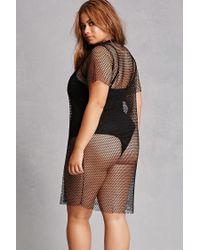 Forever 21 - Black Plus Size Sheer Mesh Top - Lyst
