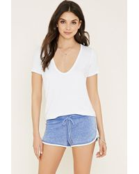 Forever 21 | Blue Heathered Dolphin Shorts | Lyst