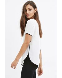 Forever 21 - Natural Sheer Crepe Top - Lyst