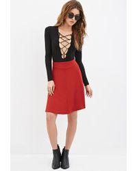 Forever 21 | Brown Center-seam A-line Skirt | Lyst