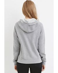 Forever 21 - Gray Classic Fleece Hoodie - Lyst