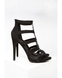 Forever 21 | Black Embellished Faux Suede Pumps | Lyst