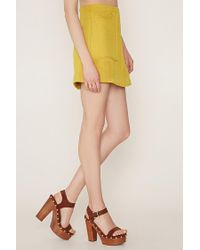 Forever 21 - Yellow Contemporary Textured Mini Skirt - Lyst