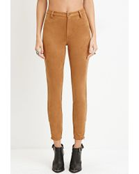 Forever 21 - Brown Faux Suede Pants - Lyst