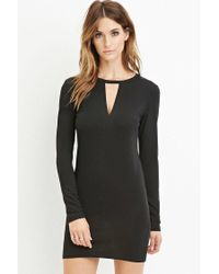 Forever 21 - Black Contemporary Cutout Bodycon Dress - Lyst