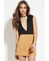Forever 21 | Brown Genuine Suede Mini Skirt | Lyst