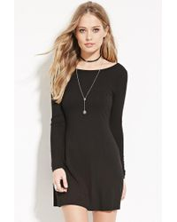 Forever 21 - Black Tie-back Mini Dress - Lyst