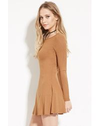 Forever 21 - Natural Tie-back Mini Dress - Lyst