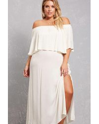 4672ea0dce Forever 21 Plus Size Boho Me Maxi Dress in White - Lyst
