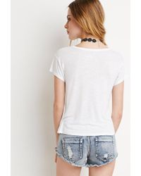 Forever 21 - White Slub Knit Pocket Tee - Lyst