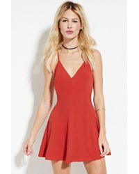 Forever 21   Brown Strappy-back Cami Mini Dress   Lyst