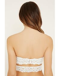 Forever 21 - White Cutout Lace Bandeau - Lyst