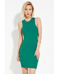 Forever 21   Green Classic Mini Dress   Lyst