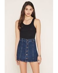 Forever 21 | Natural Ribbed Crop Top | Lyst