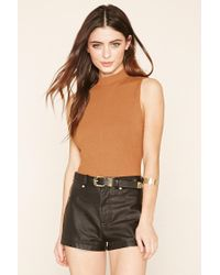 Forever 21 | Multicolor Ribbed Mock-neck Top | Lyst