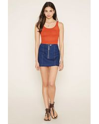 Forever 21 - Red Open Knit Crop Top - Lyst