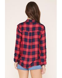 Forever 21 - Red Tartan Plaid Shirt - Lyst