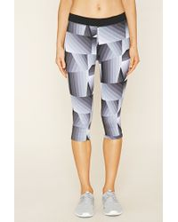 Forever 21 - Black Active Capri Leggings - Lyst