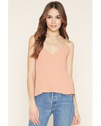 Forever 21 - Blue Contemporary Strappy Cami - Lyst