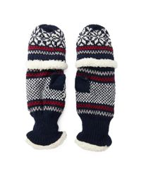 Forever 21 - Blue Fair Isle Convertible Gloves - Lyst