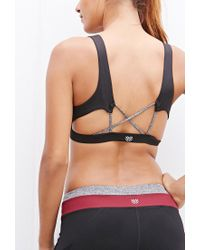 Forever 21 | Red Medium Impact - Crisscross-back Sports Bra | Lyst