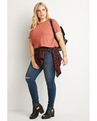 Forever 21 - Pink Classic Boxy Tee - Lyst