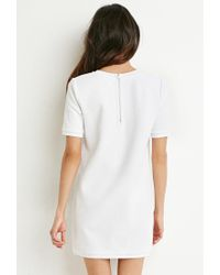Forever 21 | White Checker-patterned Shift Dresss | Lyst