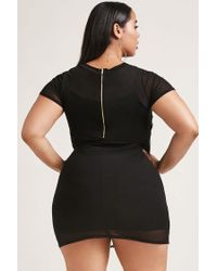 Forever 21 - Black Plus Size Embroidered Dress - Lyst