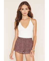 Forever 21 | Multicolor Abstract Geo Print Shorts | Lyst