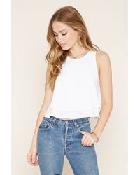 Forever 21   Black Keyhole-back Layered Top   Lyst