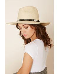 Forever 21 | Yellow Woven Straw Fedora | Lyst