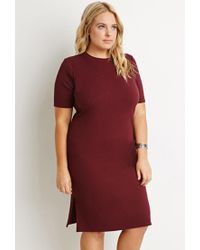 Forever 21 - Purple Plus Size Side-slit Midi Dress - Lyst