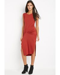 Forever 21 | Gathered Midi Dress | Lyst