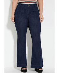 Forever 21 - Blue Plus Size Flared Jeans (regular) - Lyst