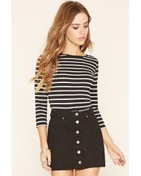Forever 21 | Black Classic Stripe Top | Lyst