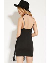 Forever 21 - Black Fringe Cami Dress - Lyst