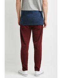 Forever 21 - Purple Zip-pocket Piqué Sweatpants for Men - Lyst