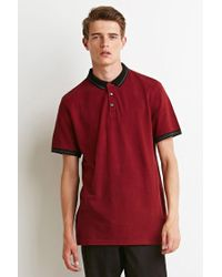 Forever 21   Red Striped-trim Polo for Men   Lyst