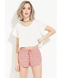 Forever 21   Pink Geo Print Shorts   Lyst