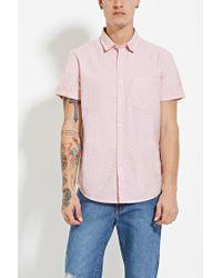 Forever 21   Pink Polka Dot Shirt for Men   Lyst