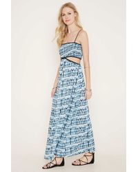Forever 21 | Natural Cutout Tie-dye Maxi Dress | Lyst
