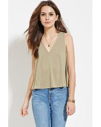 Forever 21 | Green Contemporary V-neck Top | Lyst