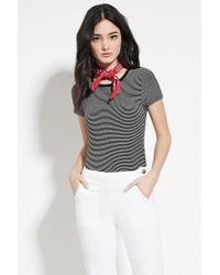 Forever 21 | Black Classic Stripe Tee | Lyst
